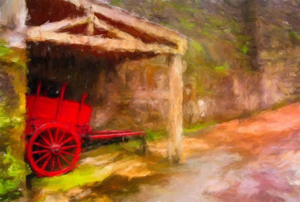 Digital Art - The Red Bullock Cart by Eduardo Tavares