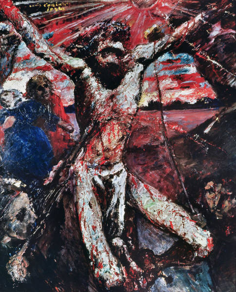 Pain Painting - The Red Christ by Lovis Corinth