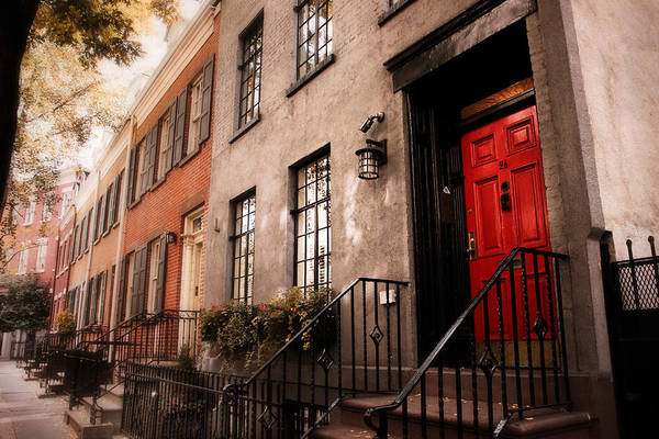 Greenwich Village Photograph - The Red Door by Jessica Jenney