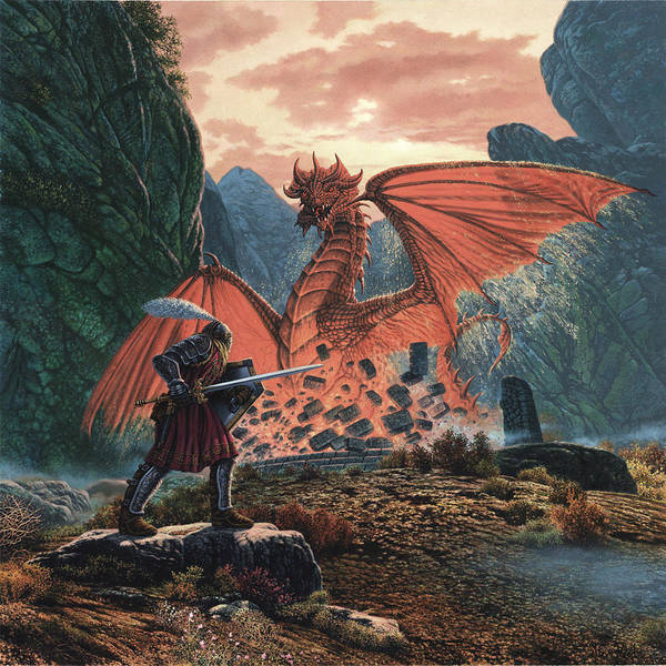 Mythological Photograph - The Red Dragon Awakens by MGL Meiklejohn Graphics Licensing
