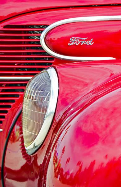 Photograph - The Red Ford by Carolyn Marshall