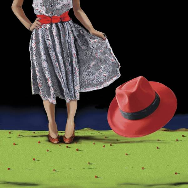 Ambiguous Painting - The Red Hat, 2008 by Marjorie Weiss