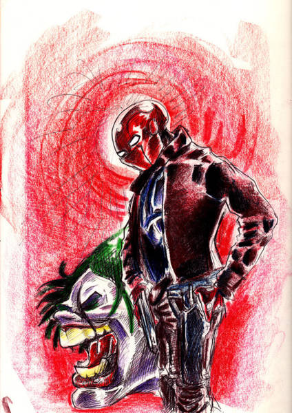 Wall Art - Drawing - The Red Hood by Big Mike Roate