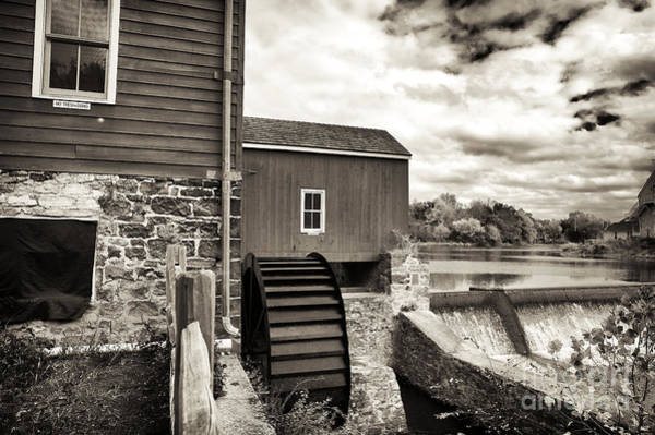 Photograph - The Red Mill In Clinton by John Rizzuto