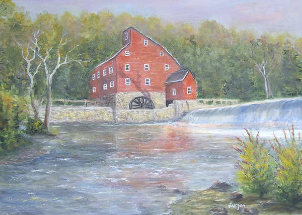 Painting - The Red Mill by Katalin Luczay