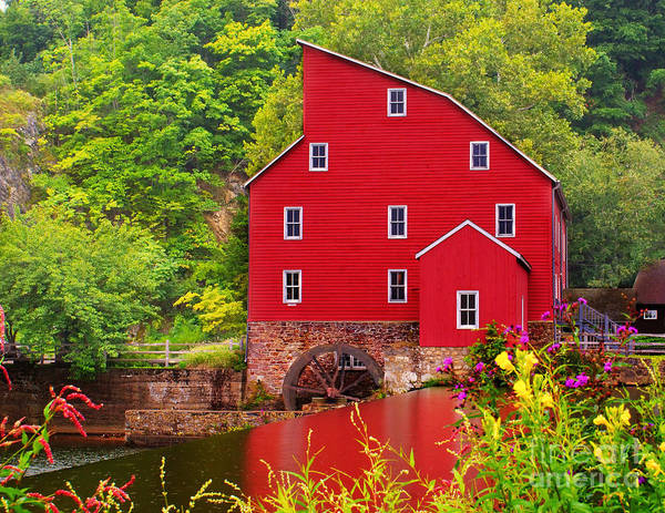 Village Creek Photograph - The Red Mill by Nick Zelinsky
