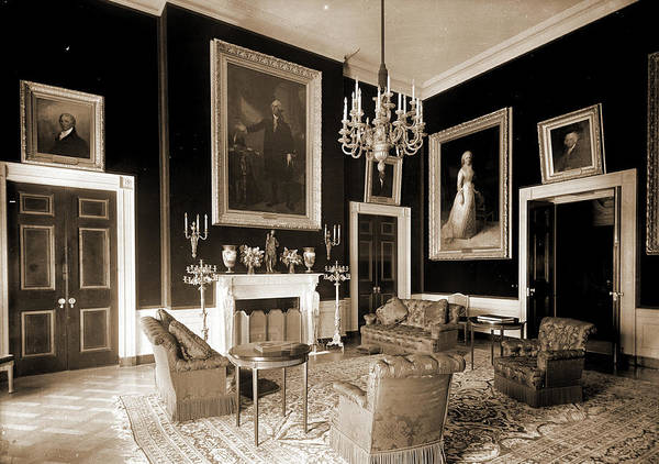 Wall Art - Drawing - The Red Room, White House, White House Washington by Litz Collection
