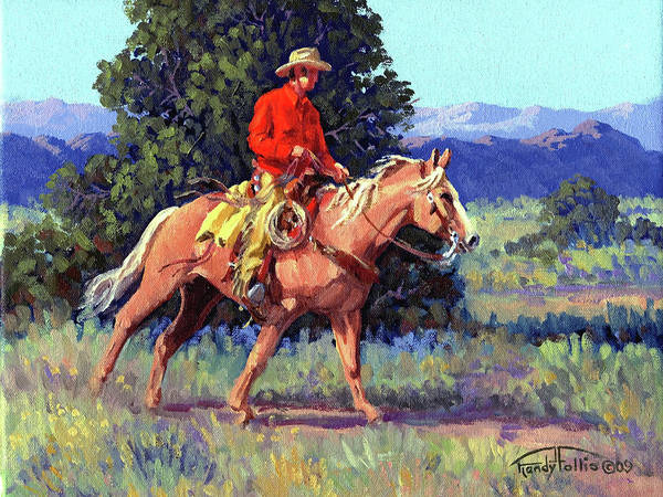 0 Painting - The Red Shirt by Randy Follis