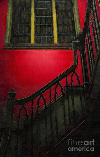 Painting - The Red Staircase by RC DeWinter