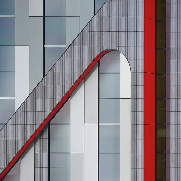 Modern Architecture Photograph - The Red Thread by Greetje Van Son