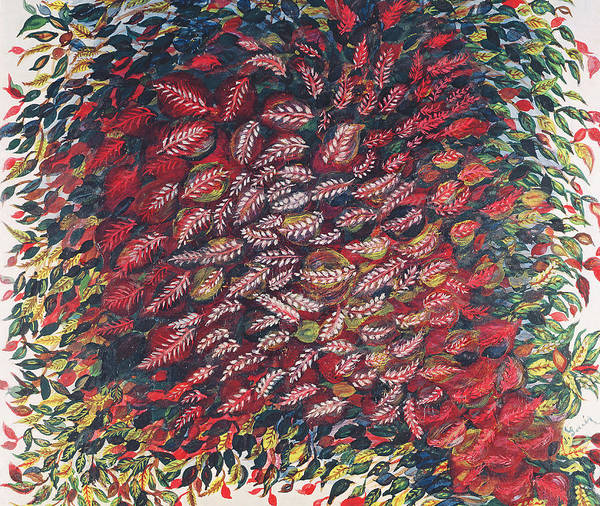 Fall Season Painting - The Red Tree by Seraphine Louis