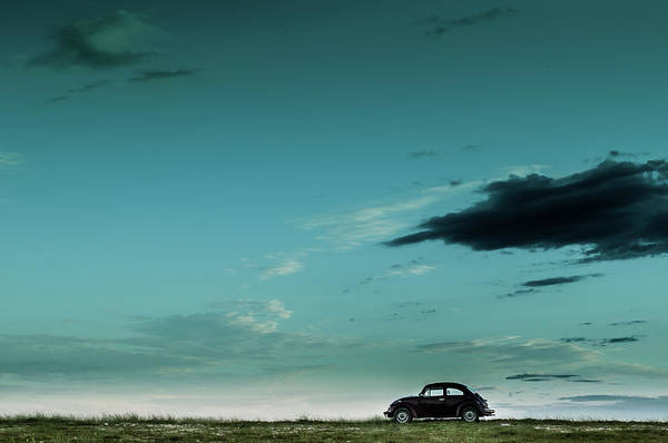 Alone Photograph - The Red Vw Beetle by Camilo Otero