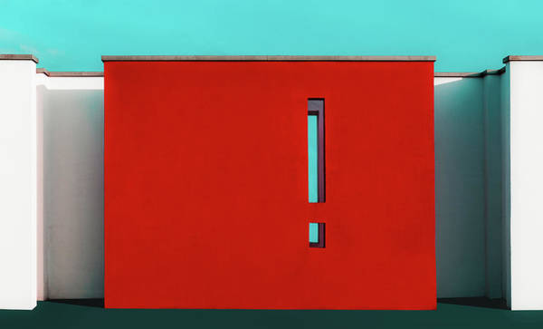 Wall Art - Photograph - The Red Wall by Inge Schuster