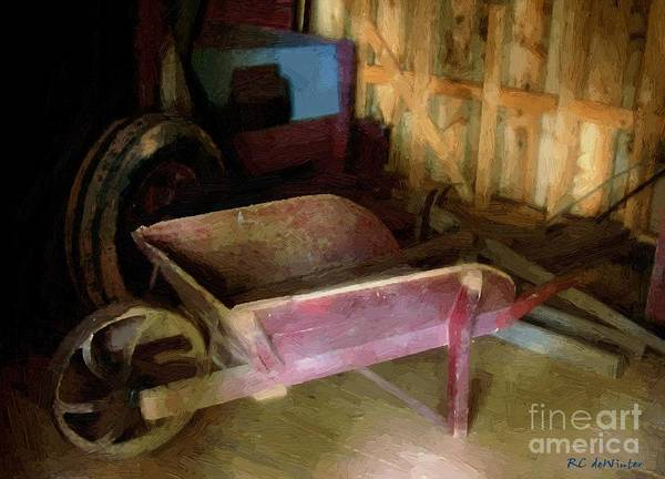Painting - The Red Wheelbarrow by RC DeWinter