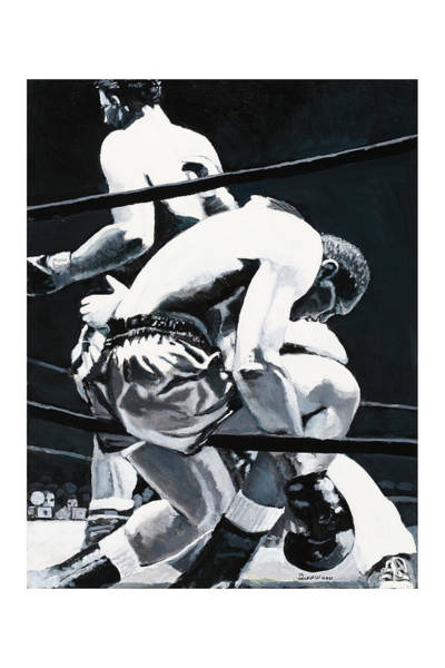 Thai Boxing Painting - The Referee by Mike Walrath