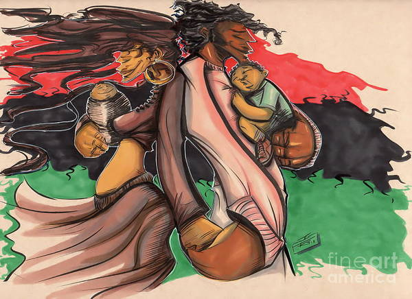 African American Drawing - The Regime by Tu-Kwon Thomas