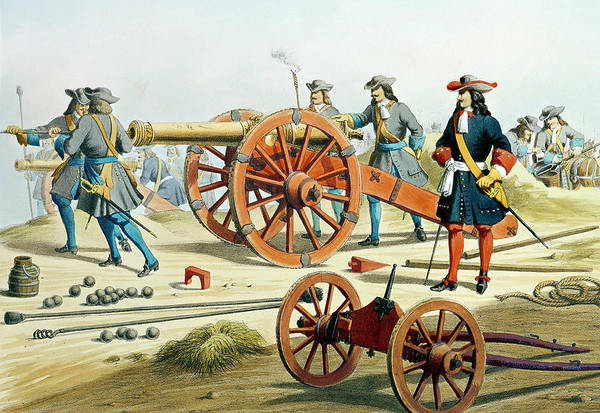 Royal Artillery Wall Art - Painting - The Regiment Of The King's Fusilliers by French School