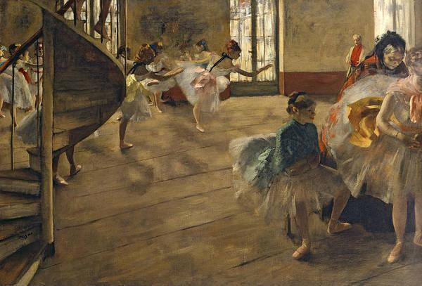 Wall Art - Painting - The Rehearsal, C.1877 by Edgar Degas