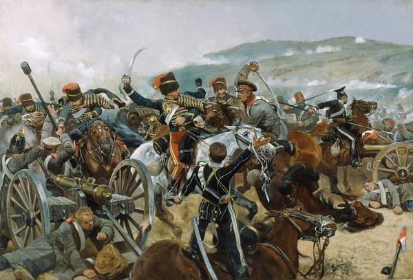 Death Valley Painting - The Relief Of The Light Brigade, 25th by Richard Caton Woodville