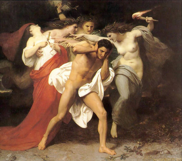 Wall Art - Digital Art - The Remorse Of Orestes by William Bouguereau