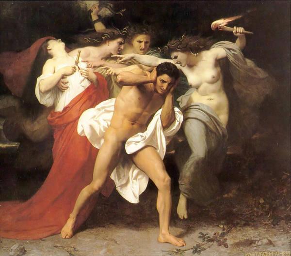 Boudoir Digital Art - The Remorse Of Orestes by William Bouguereau