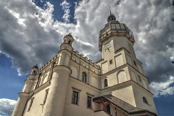 The Renaissance Town Hall In Szydlowiec In Poland Seen From A Different Perspective Art Print