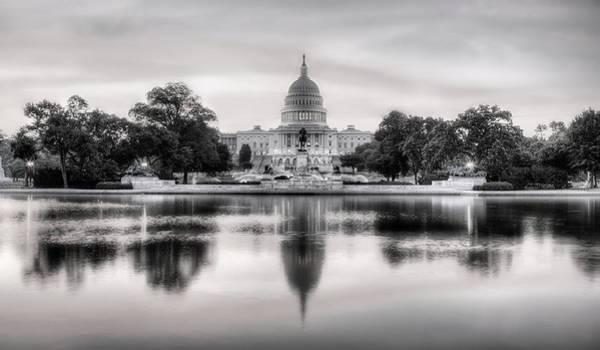 Senate Photograph - The Republic Awakens Bw by JC Findley