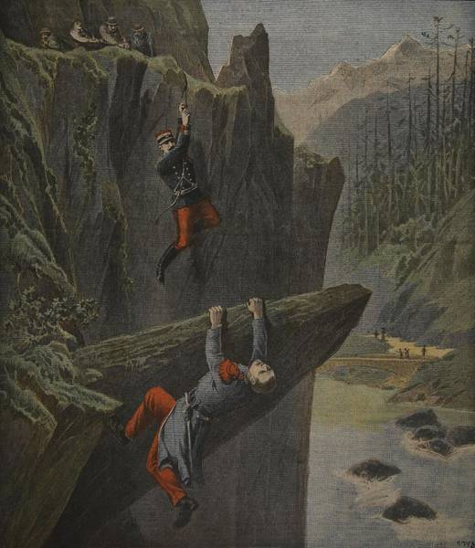 Saving Drawing - The Rescue Of A Soldier, Illustration by Henri Meyer