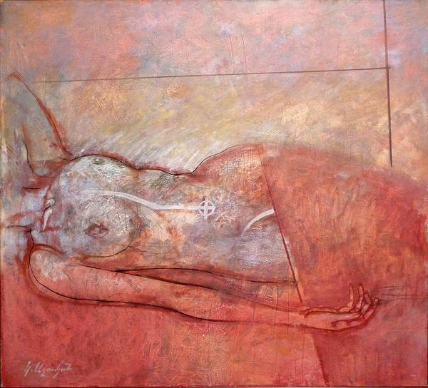 Wall Art - Painting - The Resting Woman by Karen Aghamyan