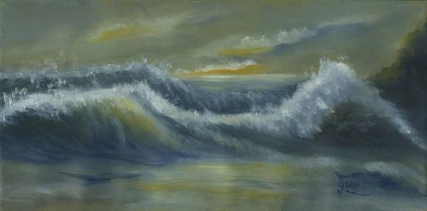 Wall Art - Painting - The Restless Ocean by Gloria Condon