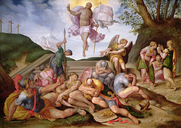New Testament Photograph - The Resurrection Of Christ, Florentine School, 1560 by Italian School