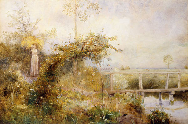 Tranquility Painting - The Return From The Harvest Field by John William North