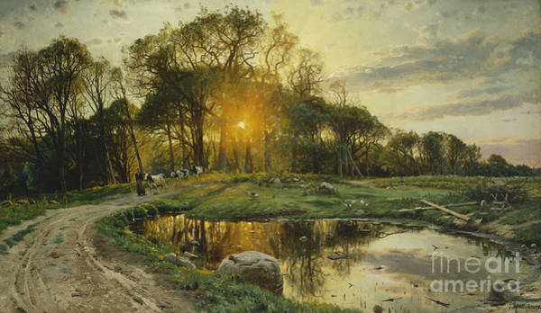 1890s Wall Art - Painting - The Return Home by Peder Monsted
