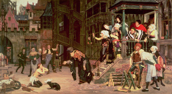 Street Scenes Photograph - The Return Of The Prodigal Son, 1862 Oil On Canvas by James Jacques Joseph Tissot