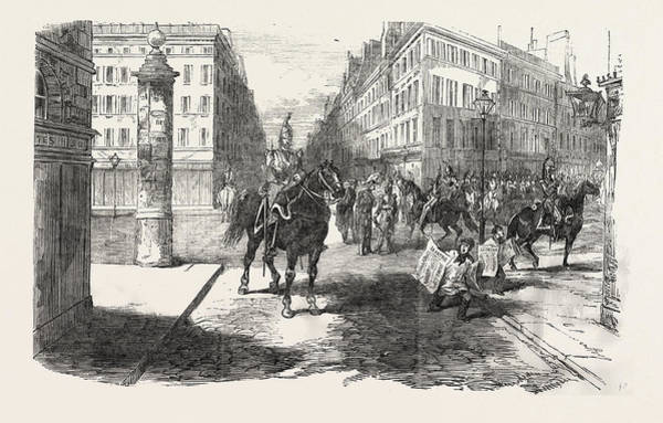 Aspect Wall Art - Drawing - The Revolution In France Aspect Of The Boulevards by French School