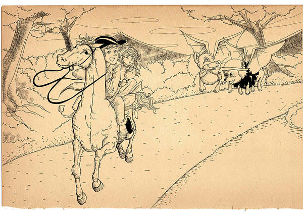 Drawing - The Ride Of Paul Revere by Reynold Jay