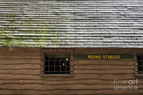 Photograph - The Riding Stable At Lost River State Park In Hardy County Wv by William Kuta
