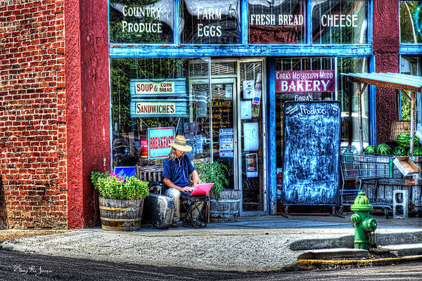 Photograph - Figure On Bench - The Right Corner by Barry Jones