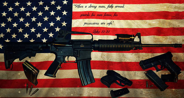 Ar 15 Wall Art - Photograph - The Right To Bear Arms by Amber Summerow