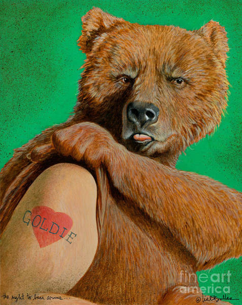 Tats Wall Art - Painting - The Right To Bear Arms... by Will Bullas