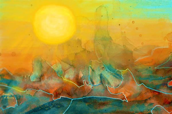 Canyon Mixed Media - The Rising Sun by Sandi OReilly
