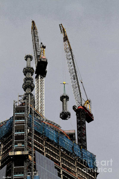 Photograph - The Rising Wtc Spire by Steven Spak