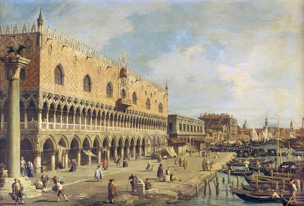 Photograph - The Riva Degli Schiavoni, Venice Oil On Canvas by Canaletto