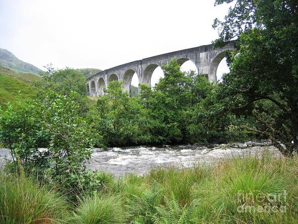 Photograph - The River And The Viaduct by Denise Railey
