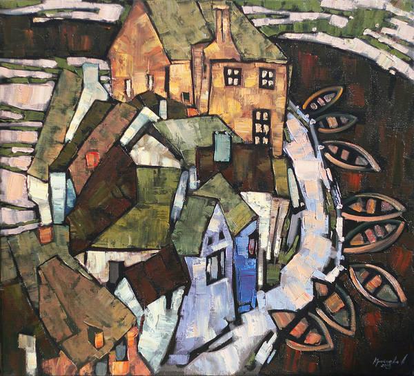 Wall Art - Painting - The River Flows by Anastasija Kraineva