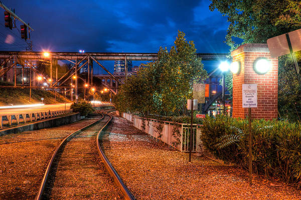 Photograph - The River Railroad by Daryl Clark