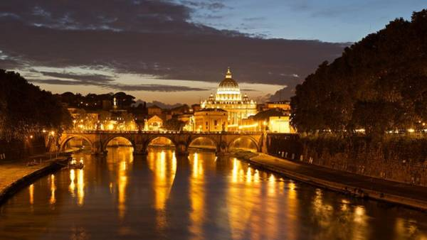 Photograph - The River Tiber At Night by Stephen Taylor