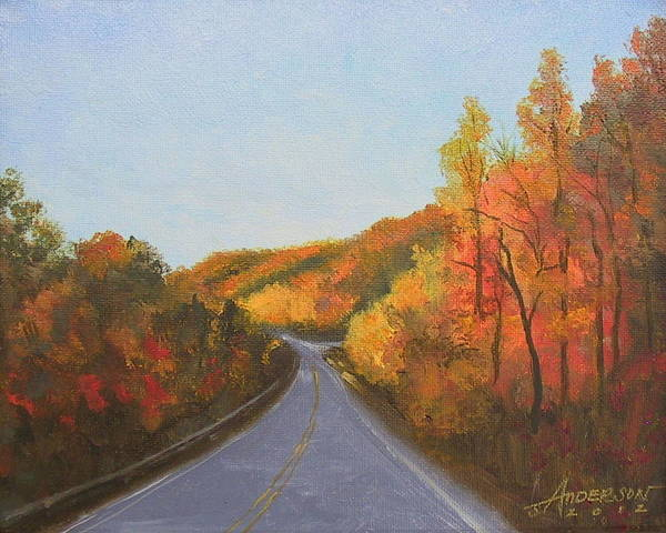 Painting - The Road Home by Sherri Anderson