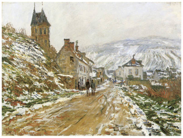 Vetheuil Wall Art - Painting - The Road In Vetheuil In Winter by Claude Monet