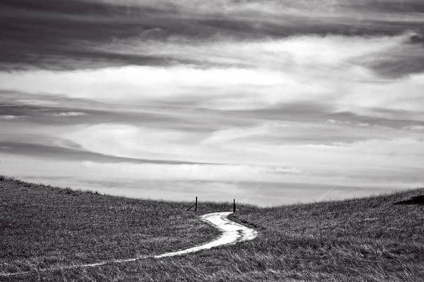 Big Sky Photograph - The Road To Nowhere by Peter Tellone